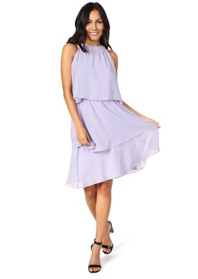 Cupcakes And Cashmere Livia Lilac Tiered Dress