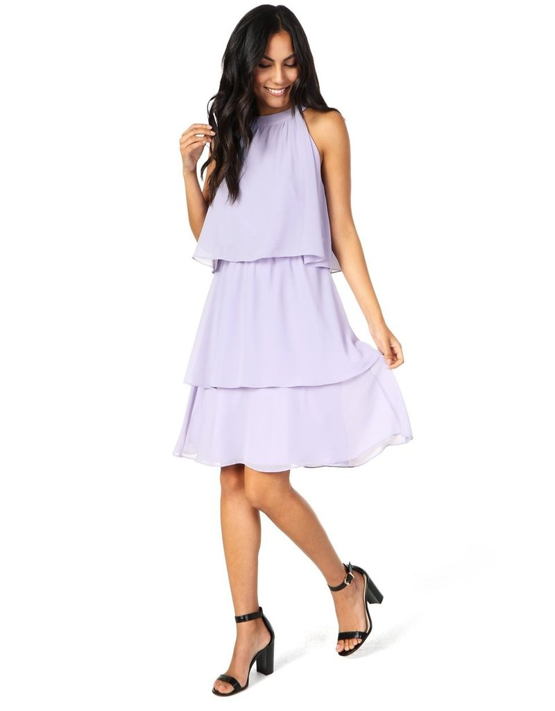 Cupcakes & Cashmere Livia Lilac Tiered Dress