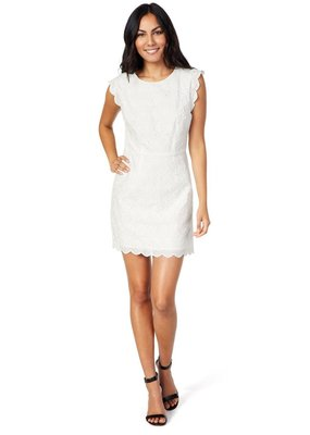 Cupcakes & Cashmere Keren White Lace Dress