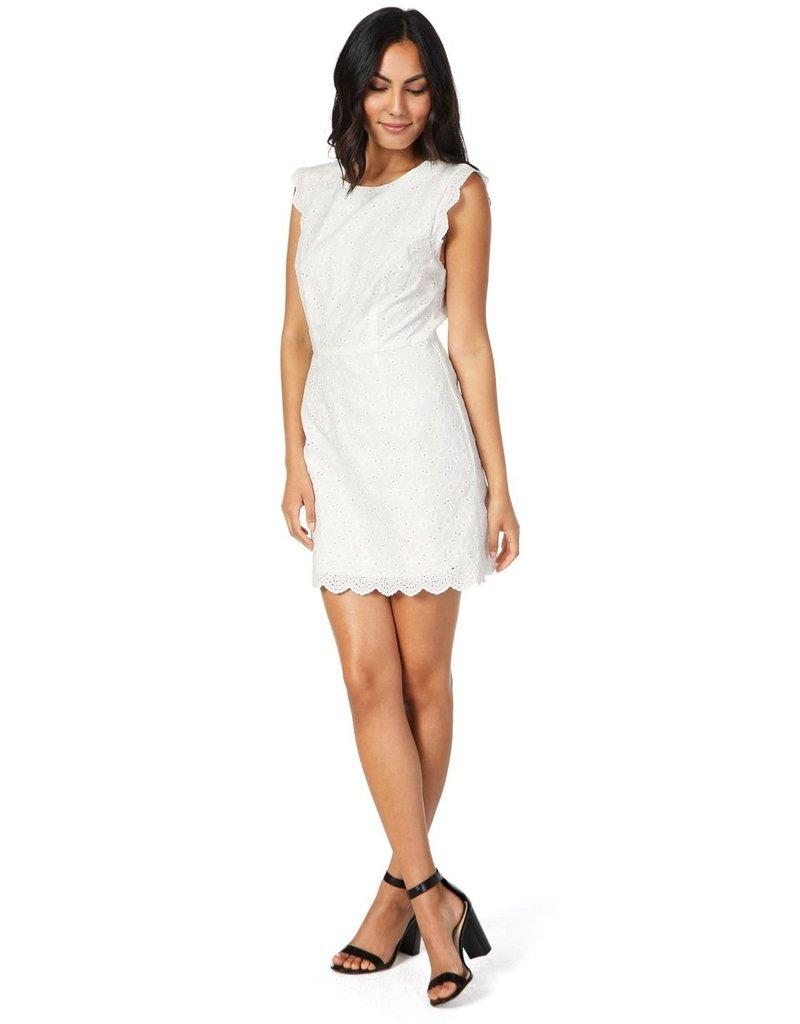Cupcakes & Cashmere Keren White Lace Dress