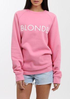 Brunette the Label Brunette the Label - Blonde Crew in Hot Pink