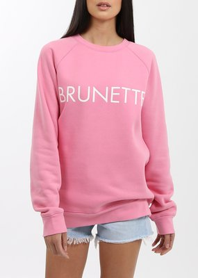 Brunette the Label Brunette the Label - Brunette Crew in Hot Pink