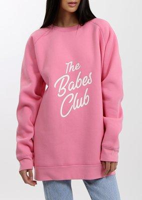 Brunette the Label Brunette the Label - Babes Club Big Sister in Hot Pink