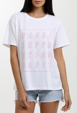 Brunette the Label Brunette the Label - Pink Babes Supporting Babes Cube Vision Tee