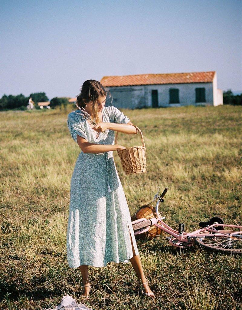 Faithfull Faithfull - Chiara Dress in Kaia Floral Seafoam