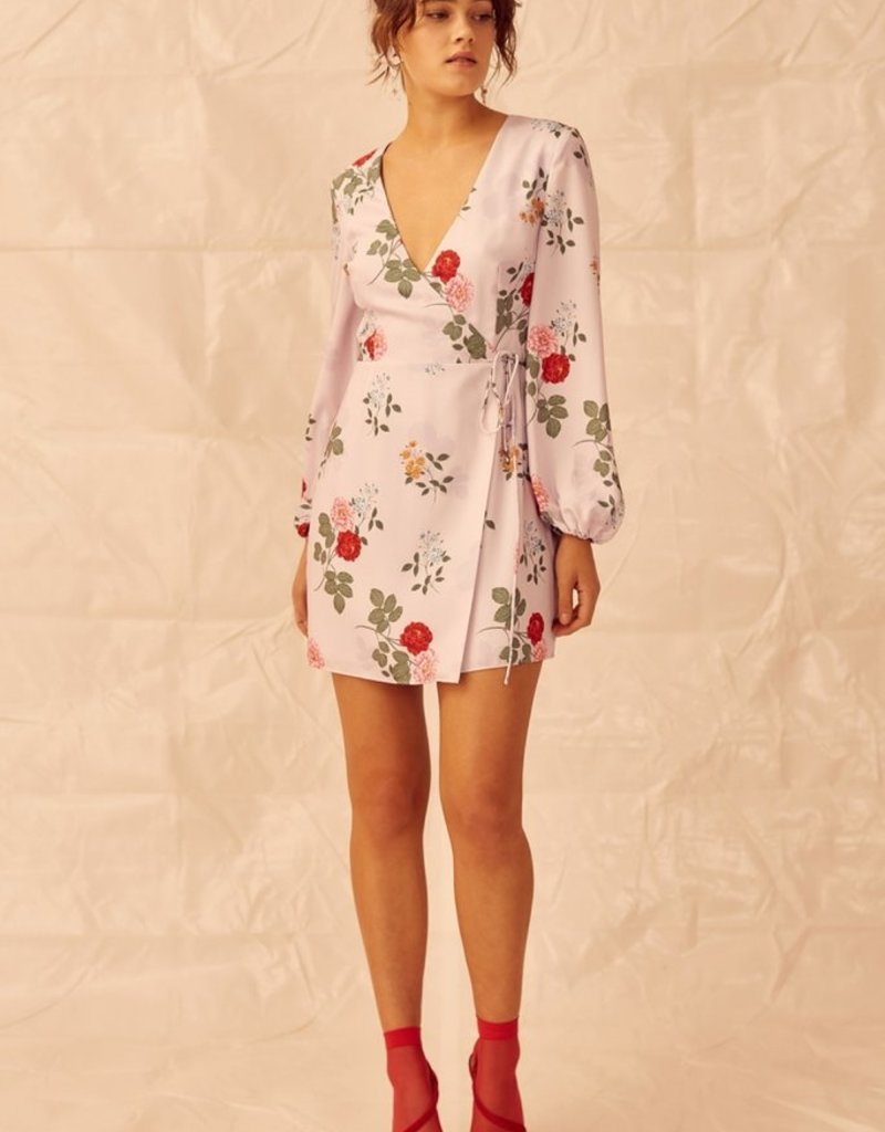 Keepsake Keepsake the Label - Pretty One Long Sleeve Wrap Dress