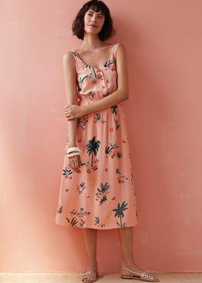Des Petits Hauts Des Petits Hauts - Vezibel Peach Midi Dress
