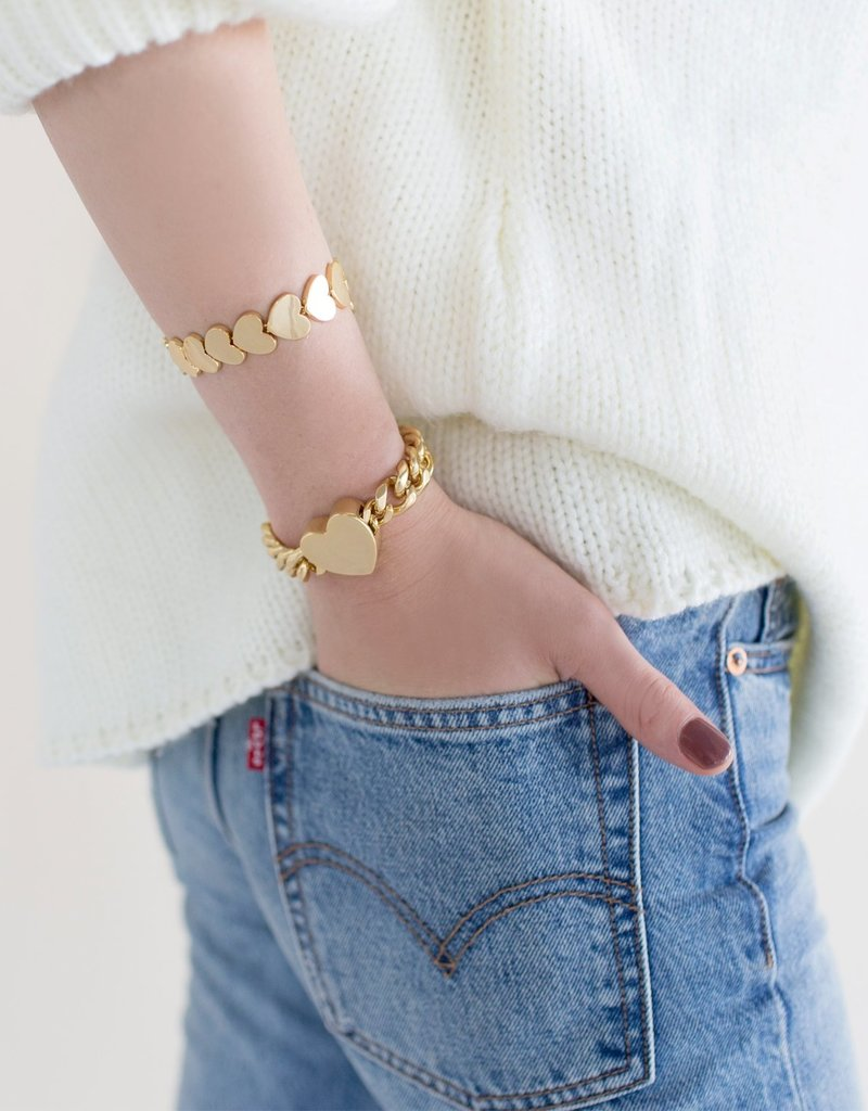 Sugar Blossom Chloe Chain Heart Bracelet