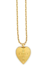 Sugar Blossom Penelope Heart and Cross Necklace
