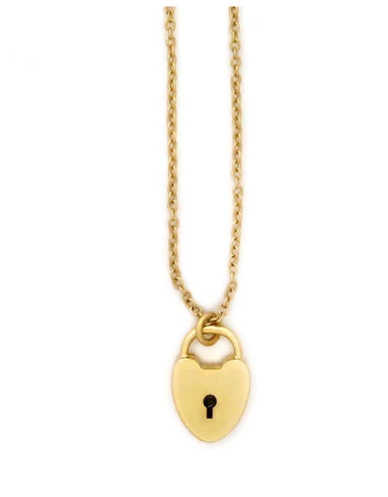 Sugar Blossom June Lock Heart Necklace