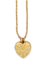 Sugar Blossom Juliet Heart Locket Necklace Gold