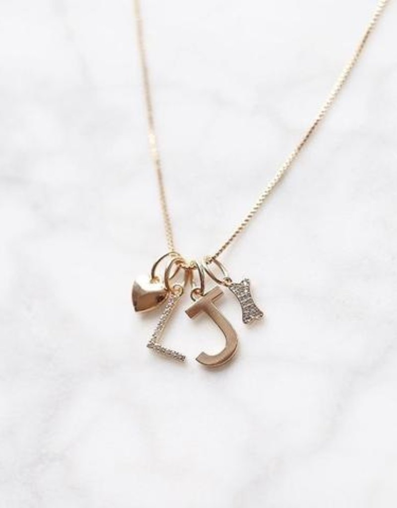 Melanie Auld Jillian Harris and Melanie Auld Adorned Charm Collection -  Pave Letter Charms
