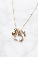 Melanie Auld Jillian Harris and Melanie Auld Adorned Charm Collection -  Gold Metal Letter Charms