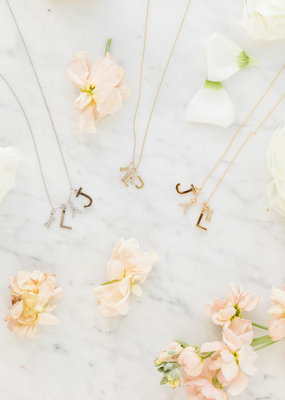 Melanie Auld Jillian Harris and Melanie Auld Adorned Charm Collection -  Silver Metal Letter Charms