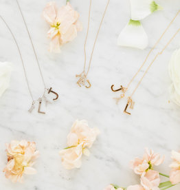 Melanie Auld Pre-Order - Jillian Harris and Melanie Auld Adorned Charm Collection - Silver Pavé Letter Charms
