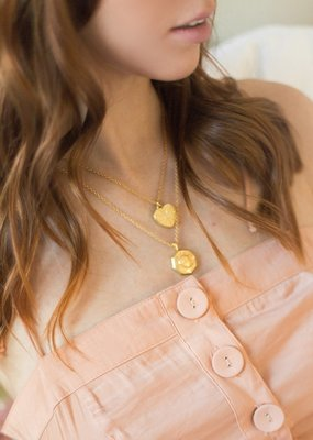 Sugar Blossom Juliet Heart Locket Necklace Gold