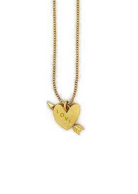 Sugar Blossom Quinn Heart And Arrow Necklace