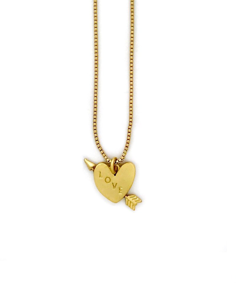 Sugar Blossom Quinn Heart And Arrow Necklace