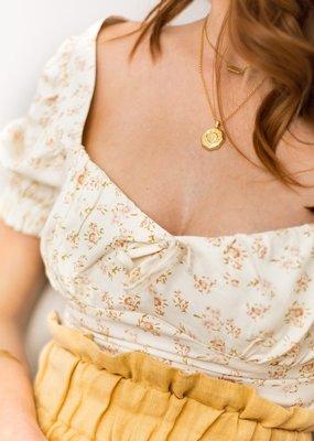 Sugar Blossom Livy Sun And Moon Necklace