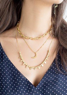 Sugar Blossom Stella Moon Necklace