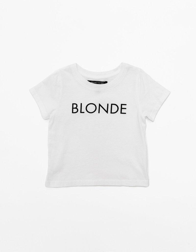 "Brunette the Label Little Babes ""Blonde"" Kids Tee"