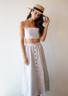 Maccs the Label Isabella Striped Tie Crop Top