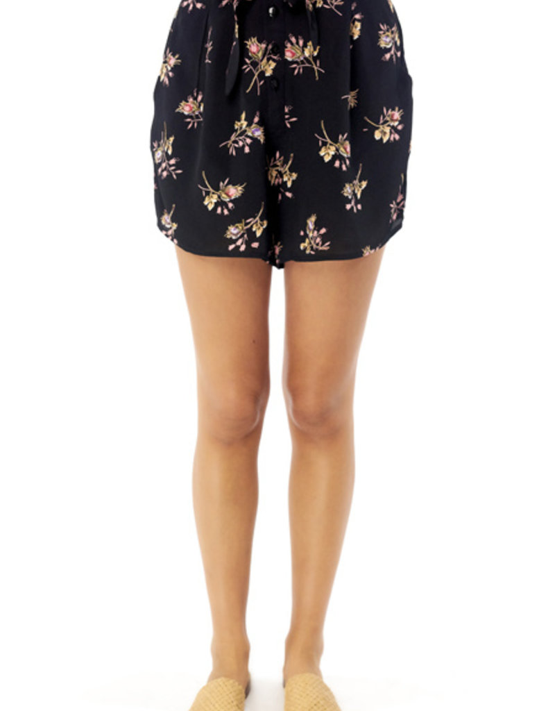 Saltwater Luxe High Waisted Floral Shorts with Belt