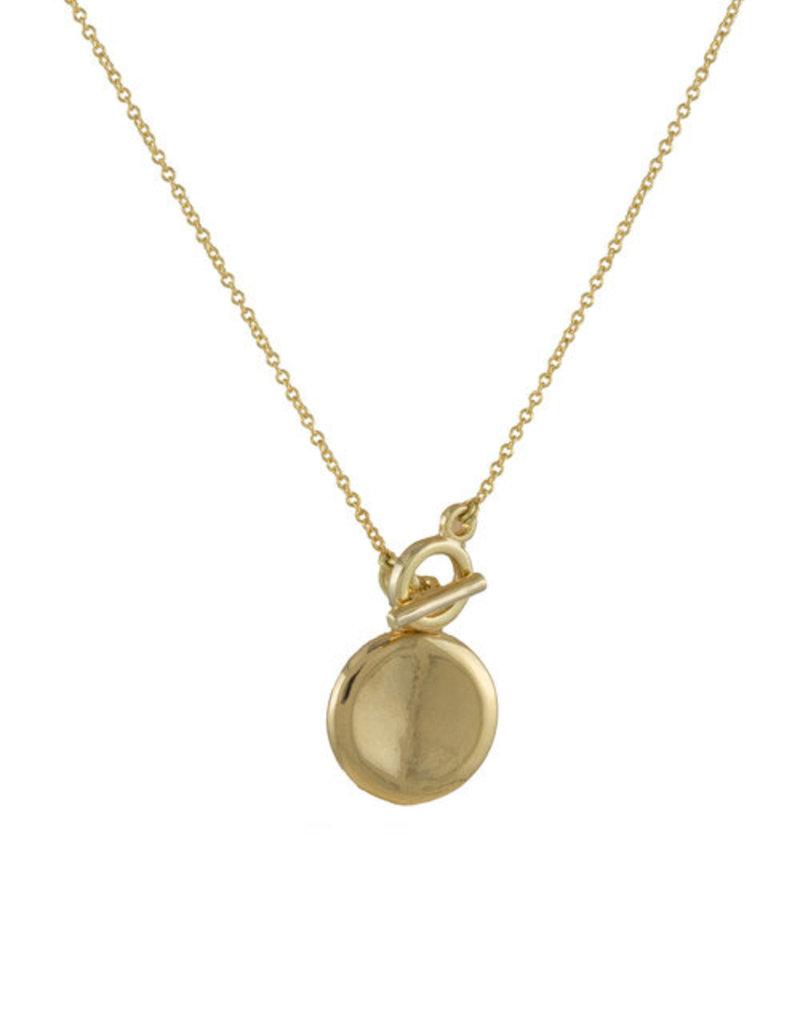 Lavender & Grace Lavender and Grace - Toggle Gold Necklace