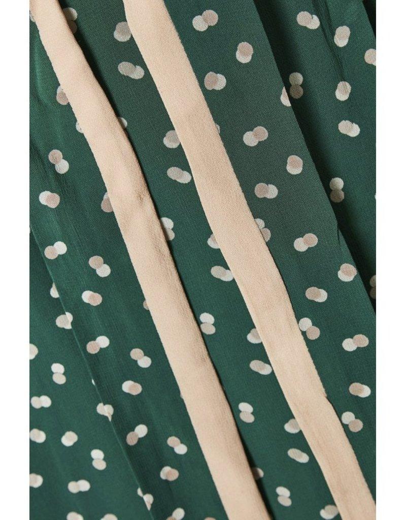 InWear Hester Warm Green Wrap Dress With Polka Dots