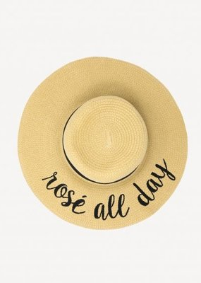 CC Exclusives Straw Floppy Hat - Rosé All Day