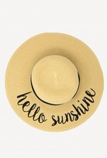CC Exclusives Straw Floppy Hat - Hello Sunshine