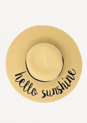 CC Exclusives Straw Floppy Hat - Hello Sunshine