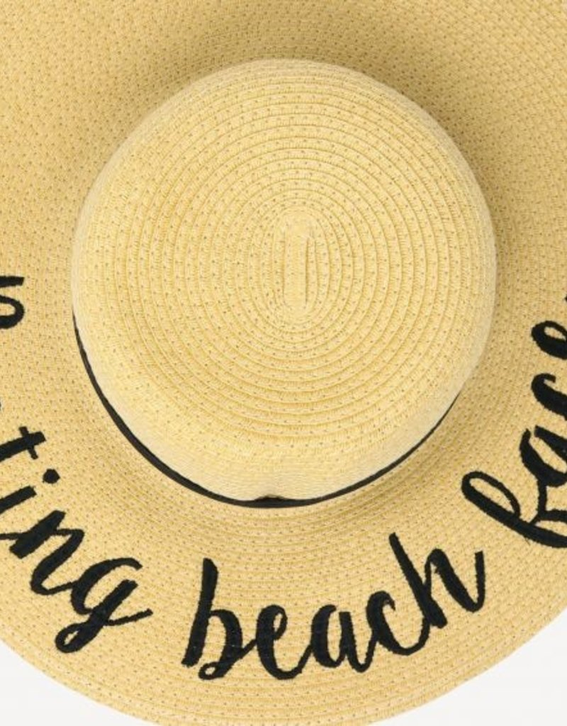 CC Exclusives Straw Floppy Hat - Resting Beach Face