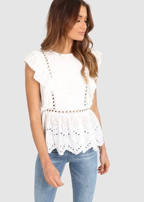 Lost in Lunar Romi Top - White