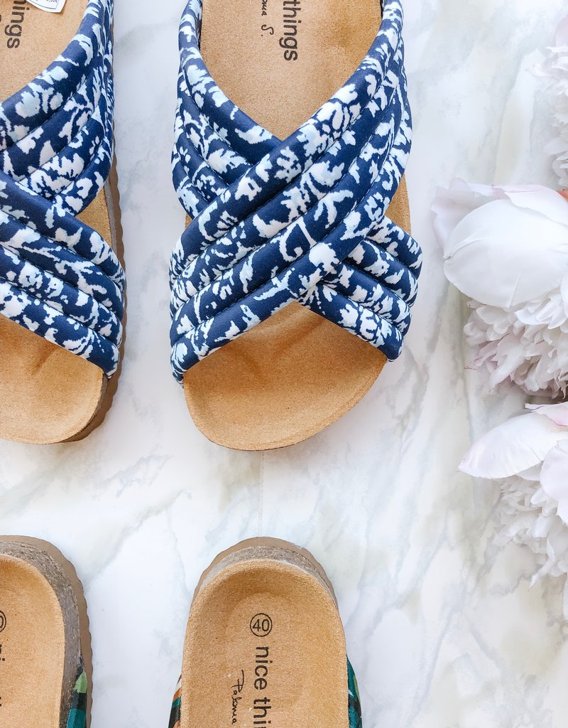 Nice Things Nice Things Printed Cross Sandals *Two Colours*