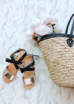 InWear Sabina Silver Metallic Leather Sandals