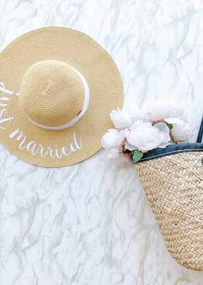 CC Exclusives Straw Floppy Hat - Just Married