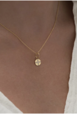 Leah Alexandra Leah Alexandra Seville Cross Coin Necklace