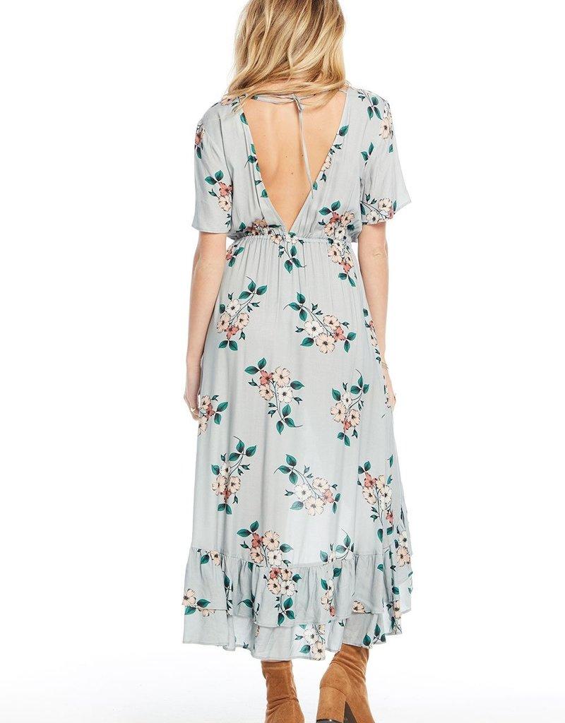 Saltwater Luxe Short Sleeve Dress with Ruffle Hem