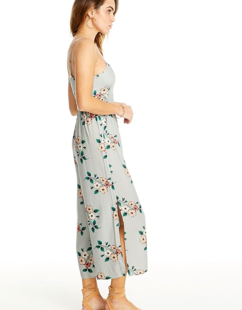Saltwater Luxe Cropped Floral Jumpsuit