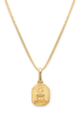 Leah Alexandra Leah Alexandra - Square Love Token Necklace (Gold)