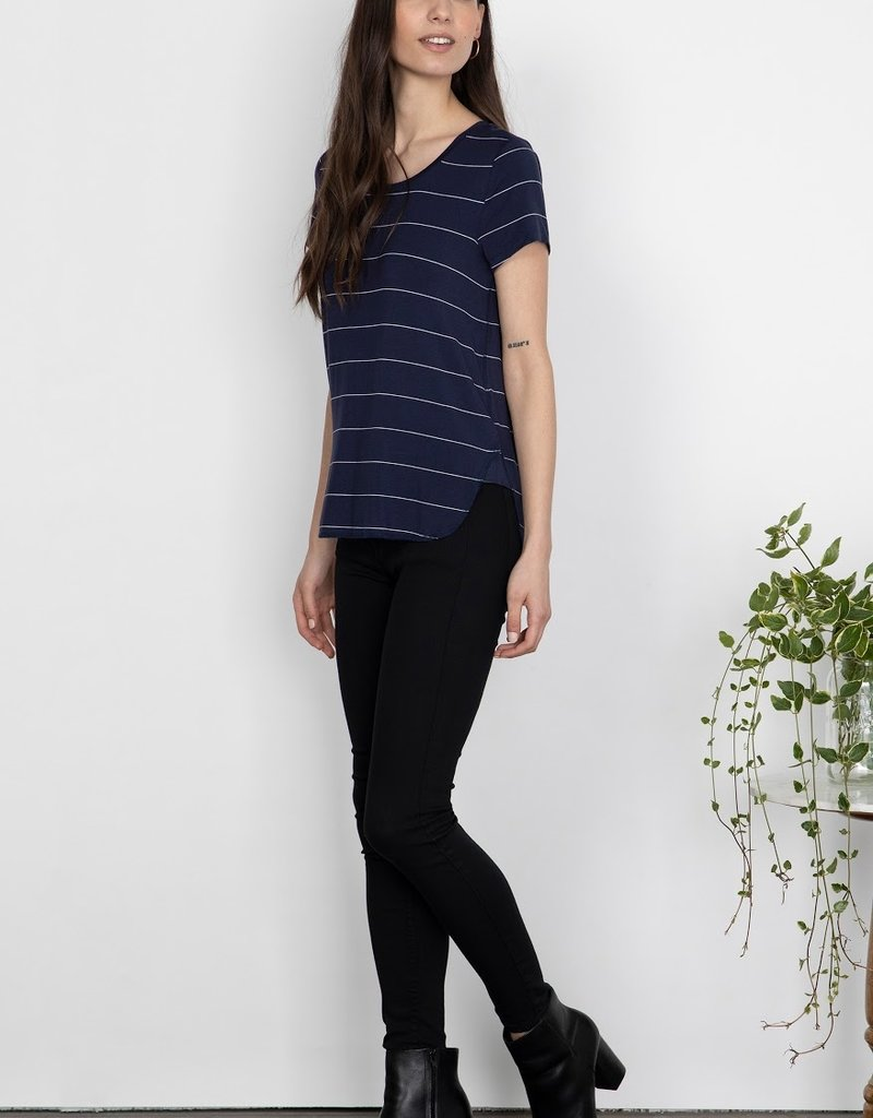 Gentle Fawn Alabama Tee - Navy Stripe