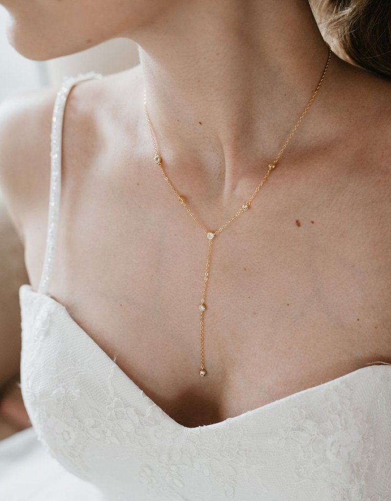 Luna & Stone Sequoia Gold Necklace