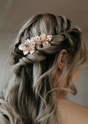 Luna & Stone Luna and Stone - Margot Rose Gold Hair Comb