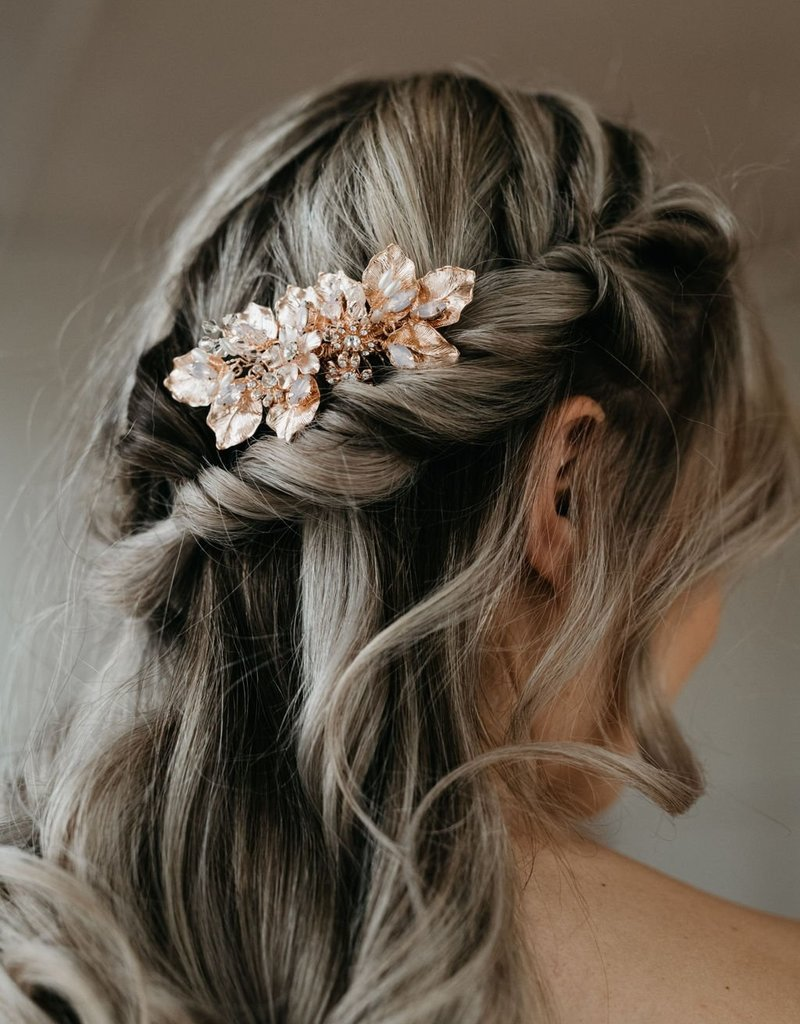 Luna & Stone Margot Rose Gold Hair Comb