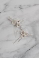 Luna & Stone Evie Silver Hair Pin - Set of 2