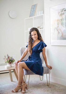 Finders Keepers Penelope Pinstripe Mini Dress