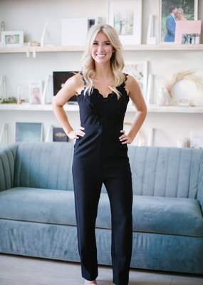 Foxiedox Idris Scalloped Detail Jumpsuit