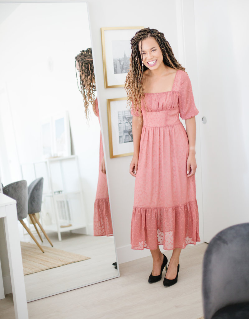 Foxiedox Brenna Midi Dress in Primrose