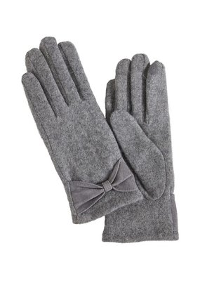 ICHI Stella Wool Gloves with Bow
